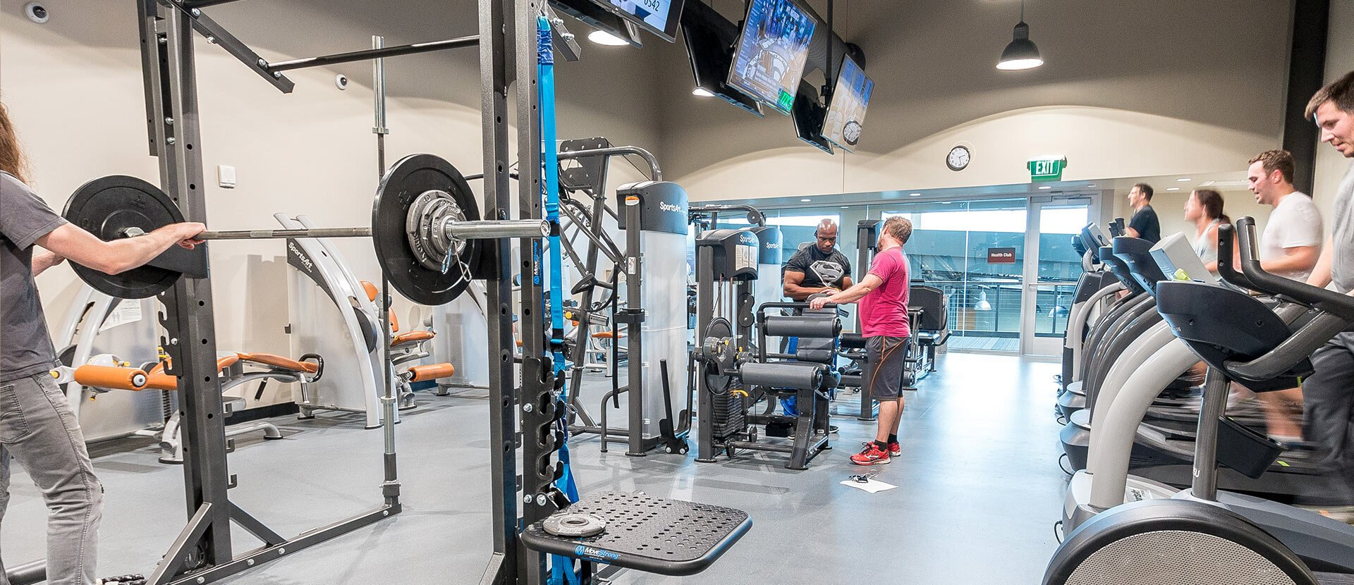Sweetwater's on-site fitness facility.