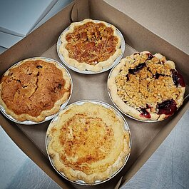 Bakerson's 4-pack of mini pies is a great way to sample all the flavors.