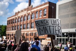 A photo from Fort Wayne's Black Lives Matter protests in 2020.