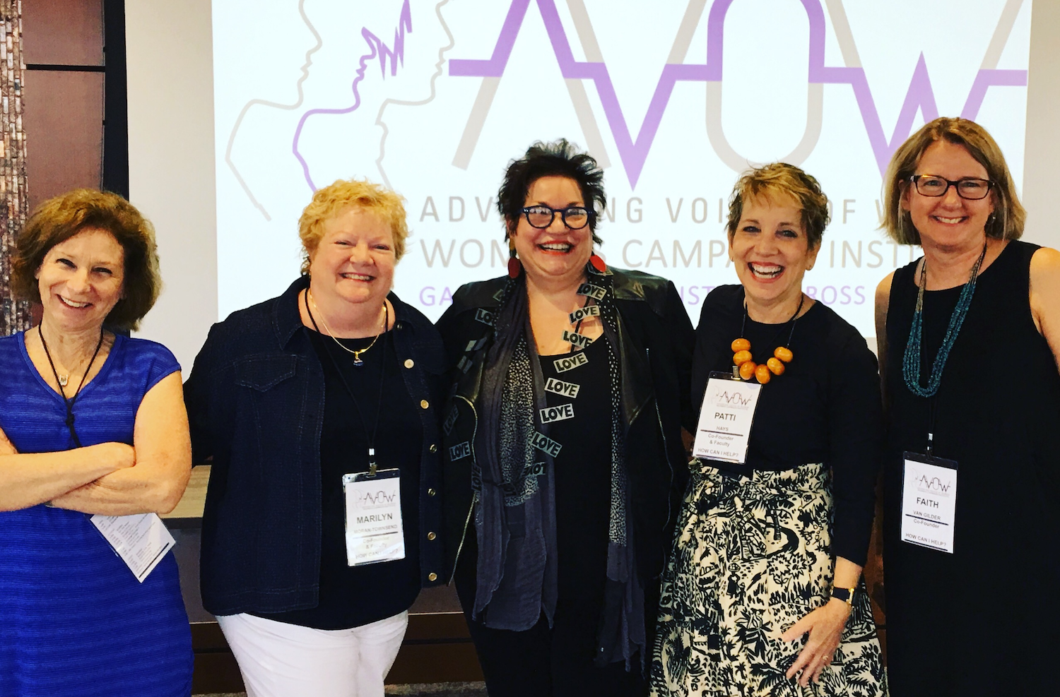 AVOW was started in Fort Wayne by a group of women, including Rachel Tobin-Smith, Marilyn Moran-Townsend, Patti Hays, and Faith Van Gilder.
