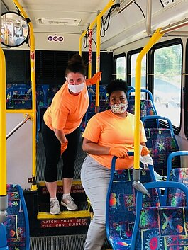 Blue Jacket spent a week in July cleaning for Citilink buses.