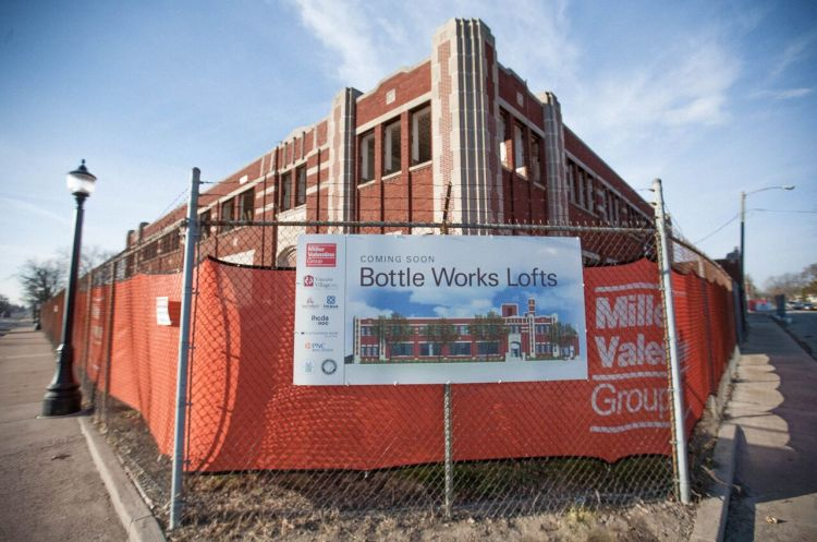Development is underway at Bottle Works Lofts.