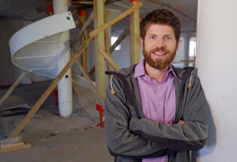Brendon Maxwell owns Utopian Coffee. His future coffee shop and brewery will occupy 118 and 122 W. Columbia St.