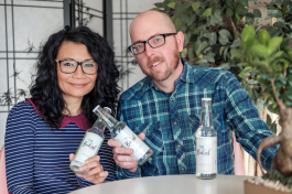 Yvonne and Robert Johnson launched Bukál flavored sparkling water.