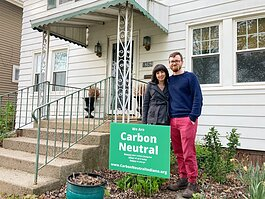 Sarah Suraci and Kurt Roembke of Fort Wayne enrolled in Carbon Neutral Indiana in January 2021.