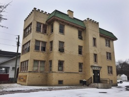 The Castle apartment building is one of two century-old structures slated for demolition..