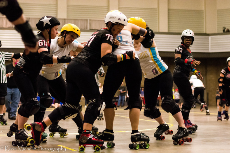 Roller derby is a competitive, contact sport.