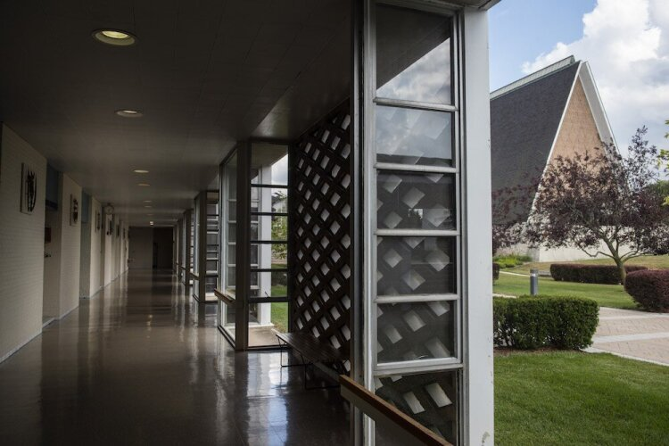 Diamonds are a recurring design element throughout Concordia Theological Seminary.