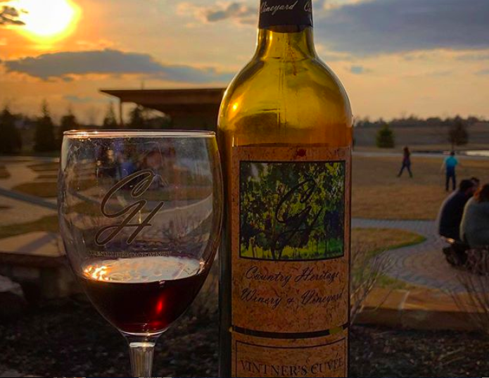 """Constructed on a family-owned farm, Country Heritage Winery & Vineyard has more than 100 years of family roots."""