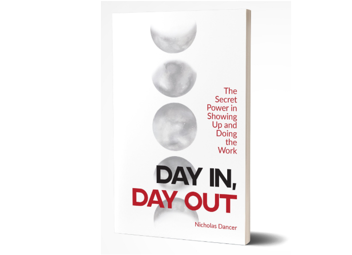 "Dancer's book, ""Day in, Day Out,"" is available for purchase on Amazon and Barnes & Noble."