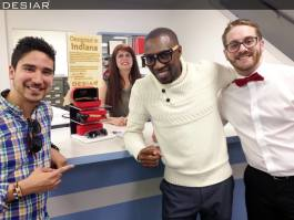 DESIAR eyewear was created by Fort Wayne native Jamal Robinson, center.