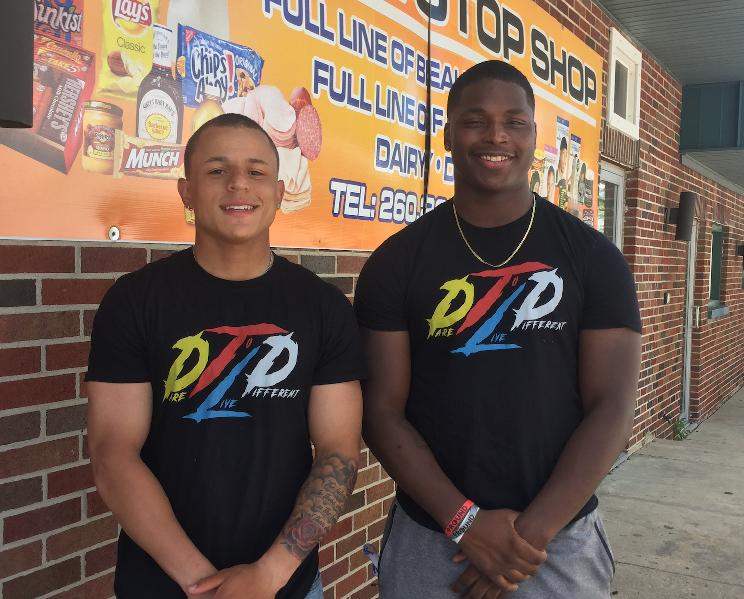 Donovan McLeister, left, and Trell Jones, right, are the Co-Founders of Dare to Live Different Inc.