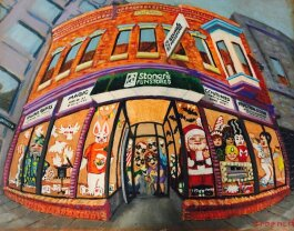 Stoner's Funstore's facade, as imagined by artist Diana Groenert