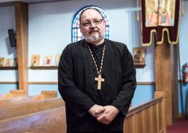 Rev. Andrew Jarmus at St. Nicholas Eastern Orthodox Church.