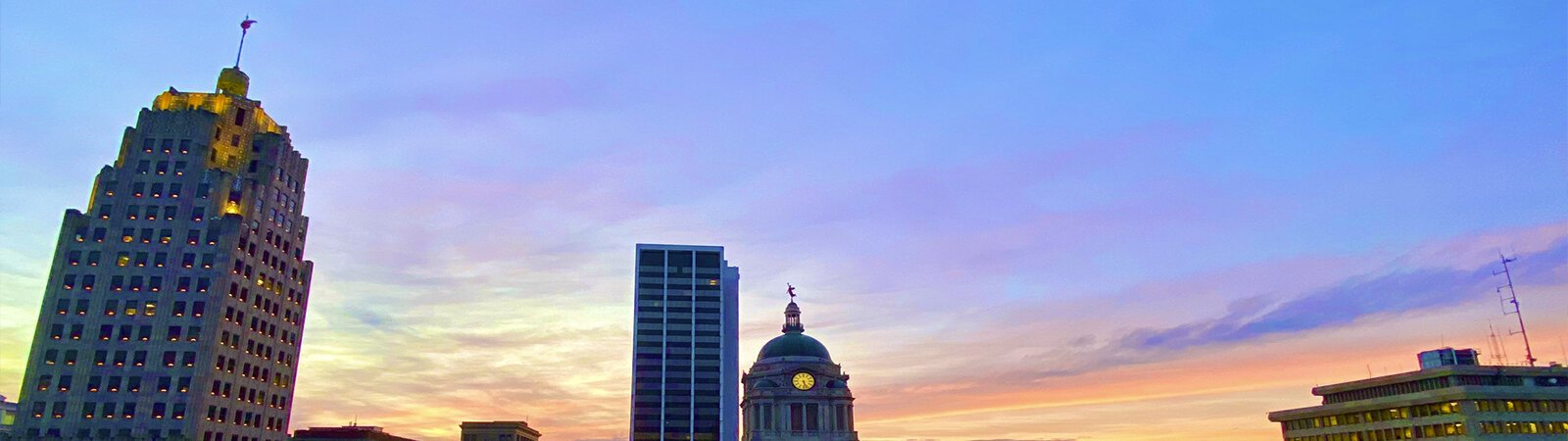 The downtown Fort Wayne skyline.