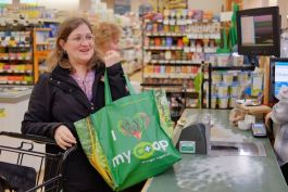 Resident Diana Talor shops at the 3 Rivers Food Co-op at 1612 Sherman Blvd.