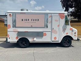 Just Neighbors purchased the former Bird + Cleaver food truck for use by street teams fostering connections with homeless residents, like Common Ground Outreach.
