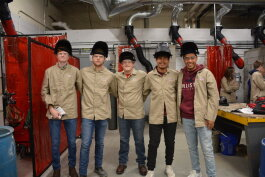 Students at Garrett High School get firsthand experience in the skilled trades.