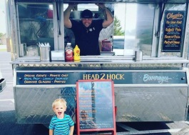 Joseph Allison runs the Head2Hock food truck in Fort Wayne with his wife, Courtni, and their family.