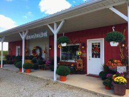 Gebhart's Floral Barn and Greenhouse LLC and JH Pottery Works are located at 2593 E. 1000 S. in Warren.