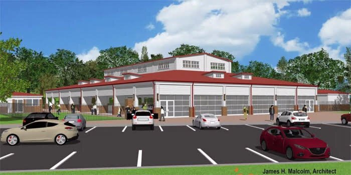 A rendering of the future ice rink at the Village at Winona.