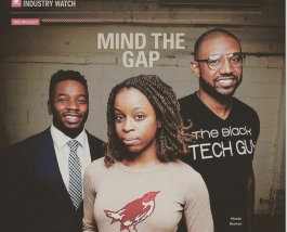 Jasmine Russell, center, is the co-founder of Monicat Data in Minneapolis.