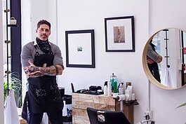 Jeffrey Ptak is the Founder of jeffrey.benjamin.hair at 116 W Columbia St.