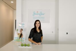 Jill Howard stands inside the newly renovated space for Juice Jar.