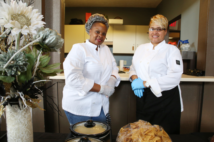 Kimora Lane, left, and Marie Sims, right, own KiMarie's Kreations & Katering.
