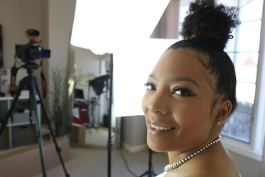 YouTube-famous Kristen Alexis films her videos in her Fort Wayne home.