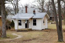 Residents can renovate existing tiny houses like this one at 1126 Lexington Ave.