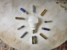 Products like lightbulbs and batteries require unique recycling methods.