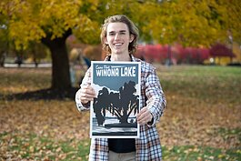 Grace College senior Mitchell Bowen intends to go from town to town, creating unique poster and postcard designs.
