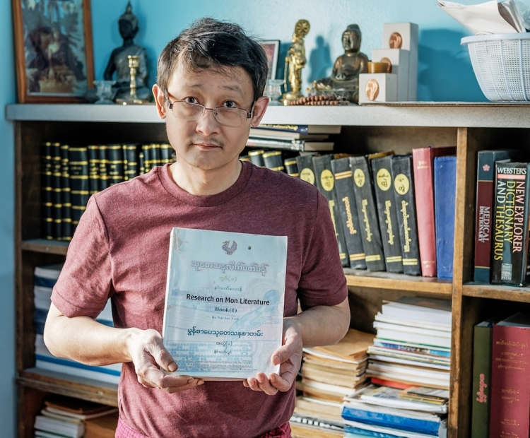 Nai Sac Lun is researching and recording the Mon language as it dwindles worldwide.