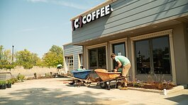 A new landscape design at Conjure Coffee will enhance the local environment.