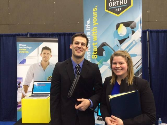 OrthoWorx presents orthopedic opportunities at college career fairs.