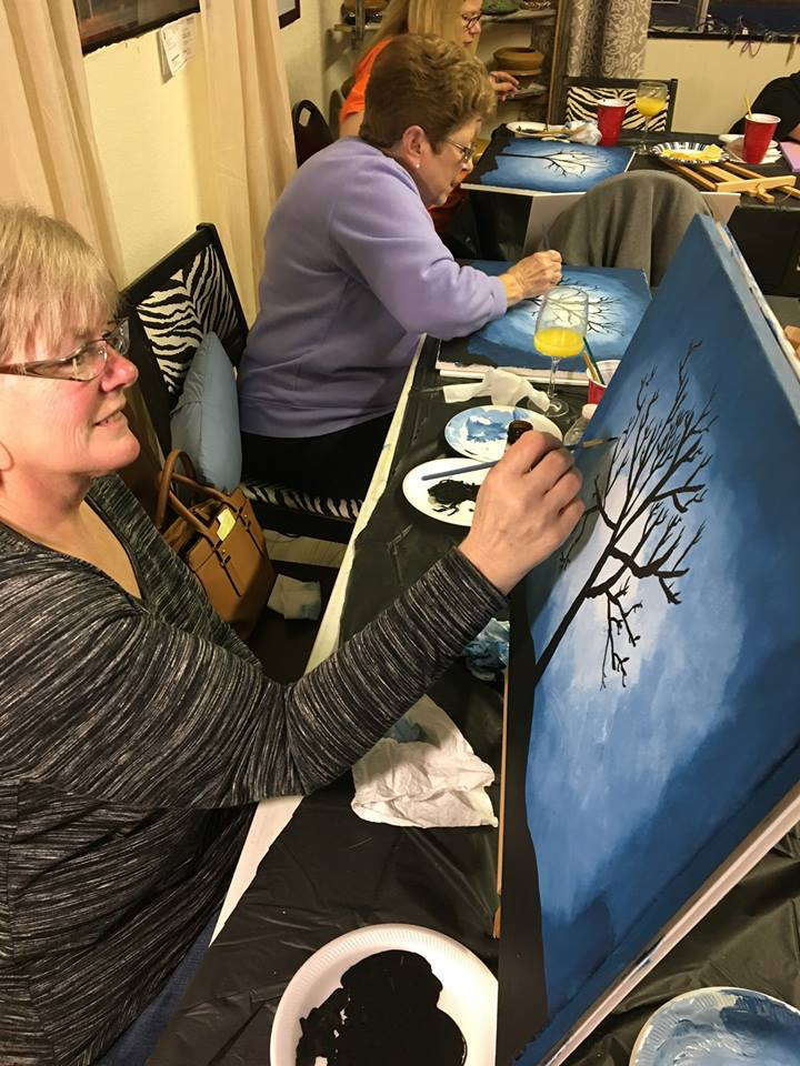 Paint classes at Molly Rose & Company.