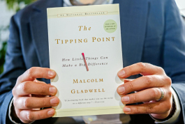 Gladwell's book, The Tipping Point, explores the broken windows theory that inspired Mondragon's ministry.