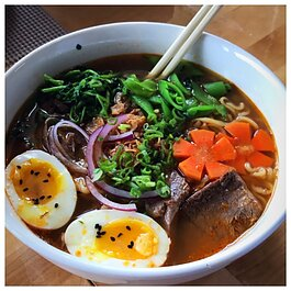 Banh Mi Pho Shop serves ramen noodles and other Vietnamese eats.