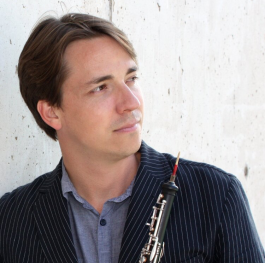 The Fort Wayne Philharmonic's Principal Oboist, Orion Rapp.