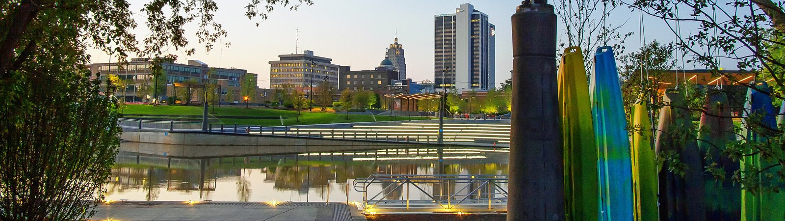 Riverfront Fort Wayne's Promenade Park opened in August 2019.