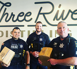 Three Rivers Distilling Co. is racing against the clock to produce as much hand sanitizer as they can for groups, like the Fort Wayne Police Department.