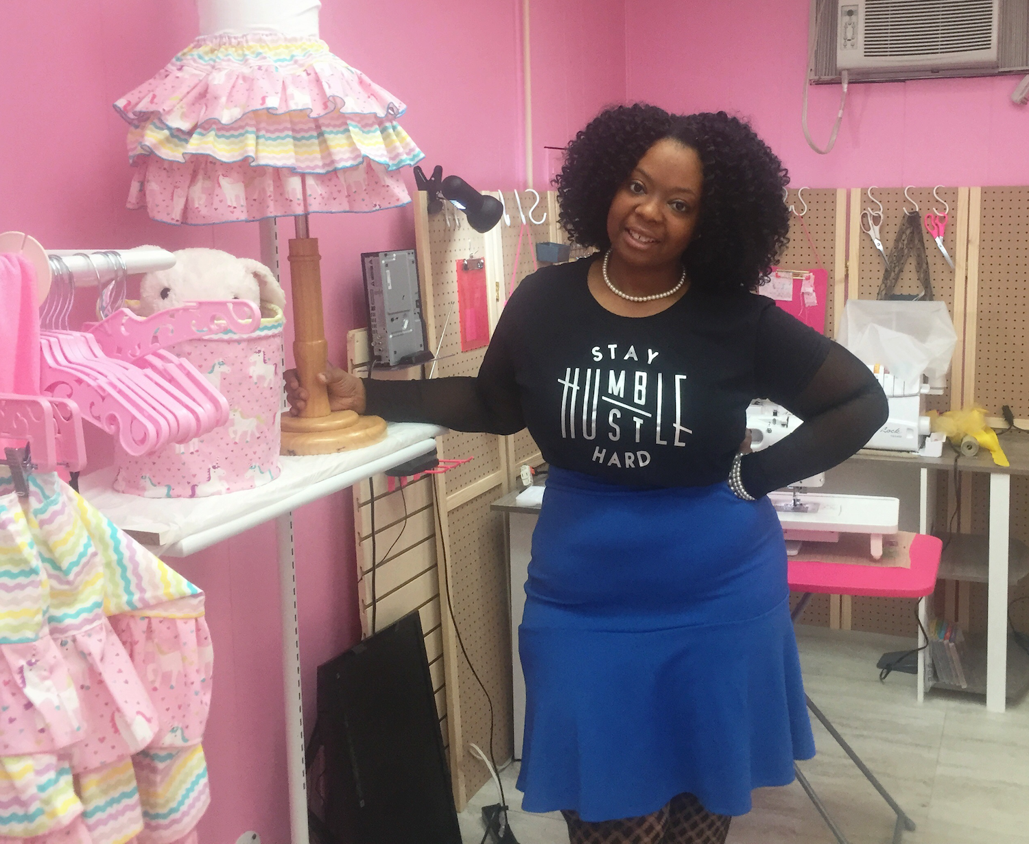 "Shalonda ""Pinky"" Saunders owns Sew Pinky on South Calhoun Street."