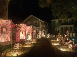 Skeletown takes over Hazel Stream's front yard every October.