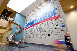 Sweetwater's campus is known around town for its in-house slide.