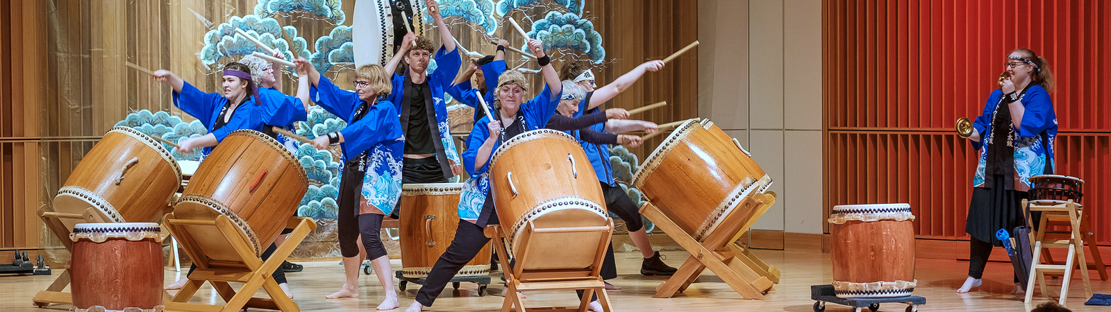 Fort Wayne Taiko drummers perform at the May 19 Cherry Blossom Festival celebrating Japanese culture. <span class=&apos;image-credits&apos;>By Ray Steup</span>
