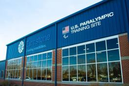Turnstone unveiled its official U.S. Paralympics training site signage in March.