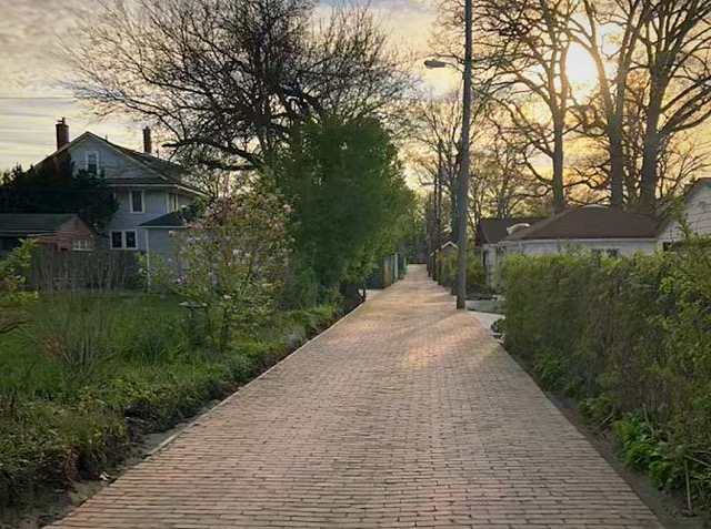 A restored alley in the Historic South Wayne neighborhood.