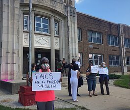 Diane Rogers was one of the organizers behind Friday's protest to save Ward School.