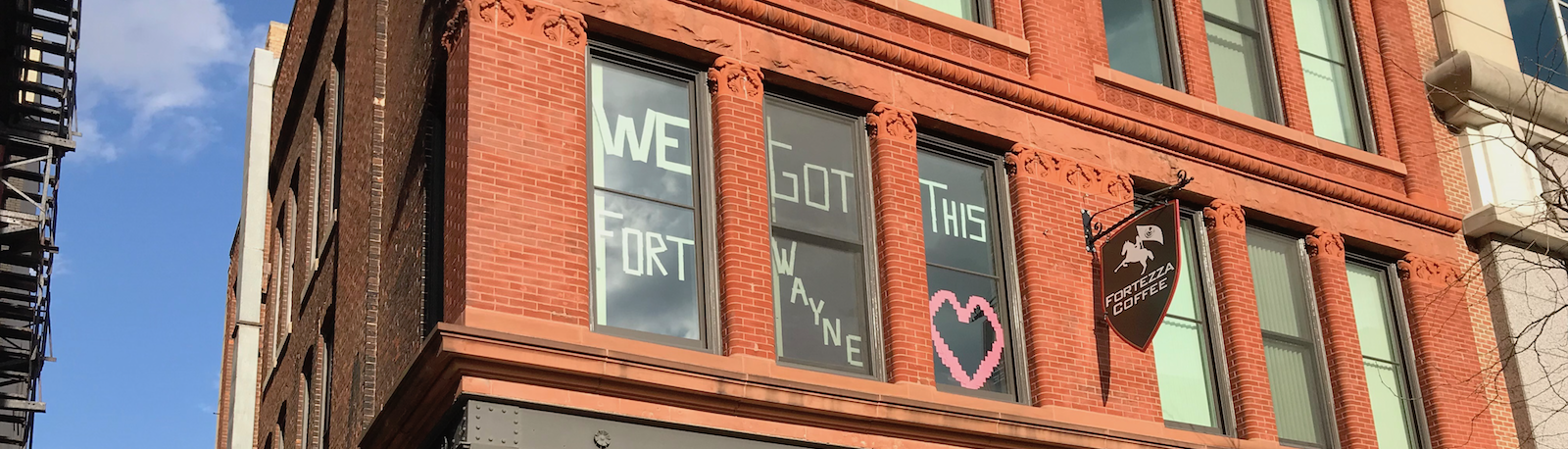 Residents on South Calhoun Street in downtown Fort Wayne share some encouragement.